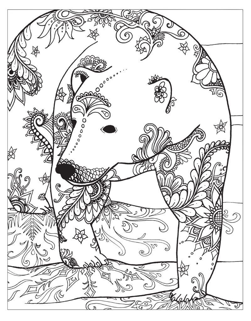 Winter Coloring Pages For Adults | Coloring | Bear Coloring