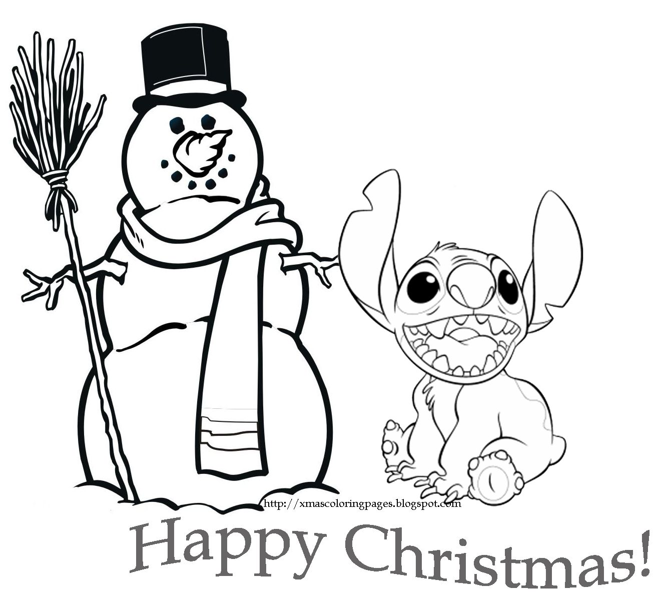 Pin By Jimmy Nail On Christmas   Stitch Coloring Pages