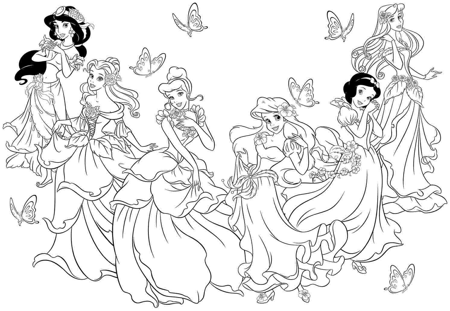 Disney Princess Christmas Coloring Pages | Disney To Color