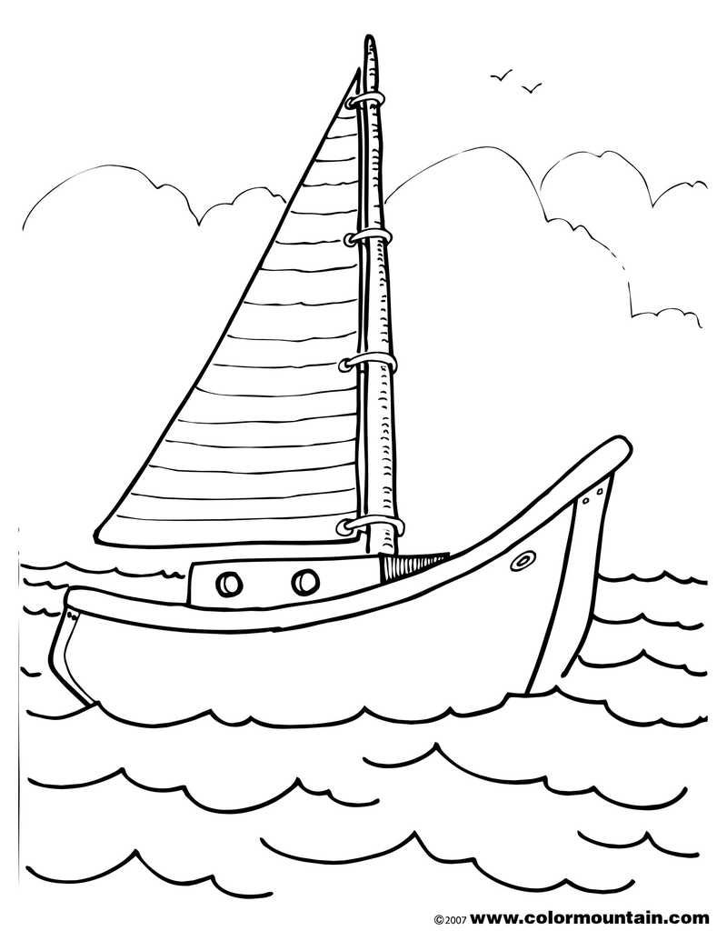 Printable Boat Coloring Pages | Vehicles Coloring Pages
