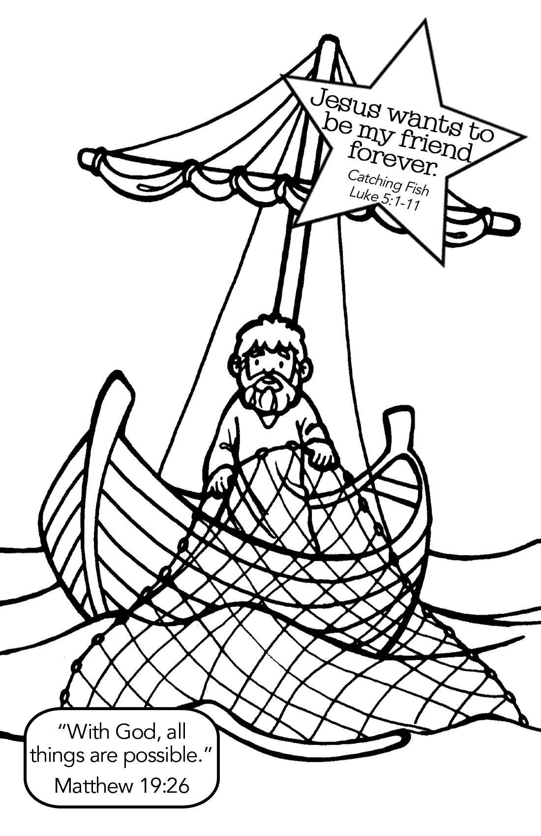 """The Disciples Catch Fish"""" (luke 5:1-11) 
