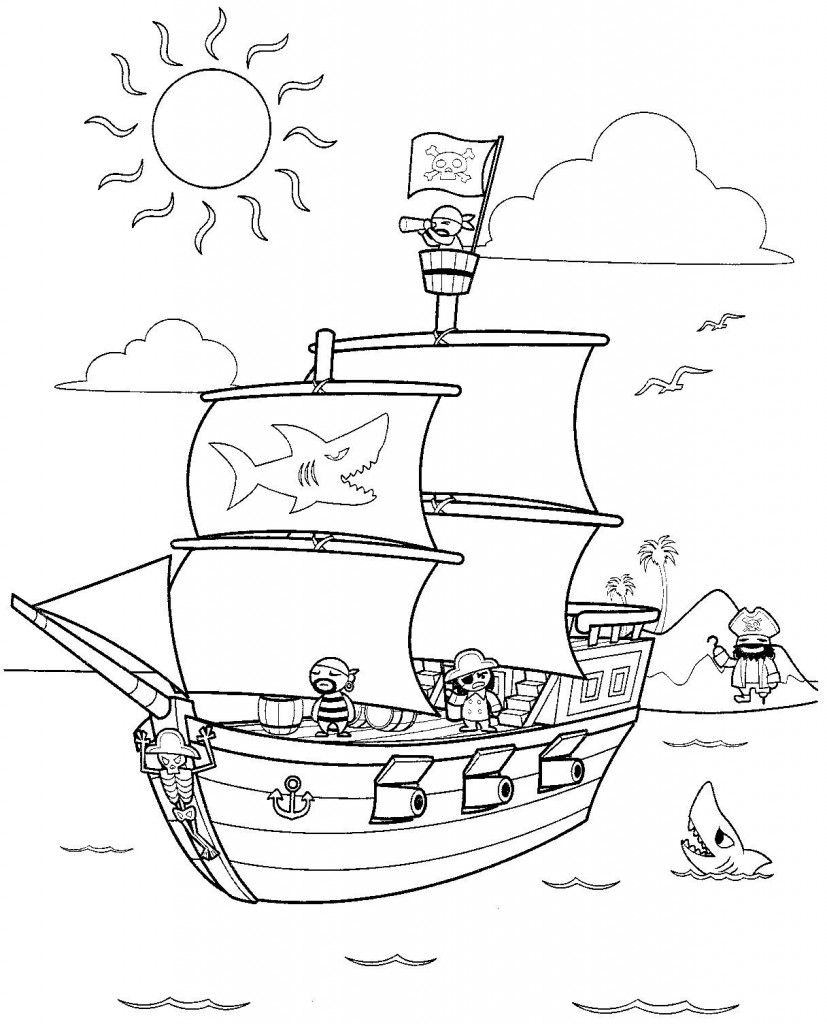 Free Printable Pirate Coloring Pages For Kids | Coloring