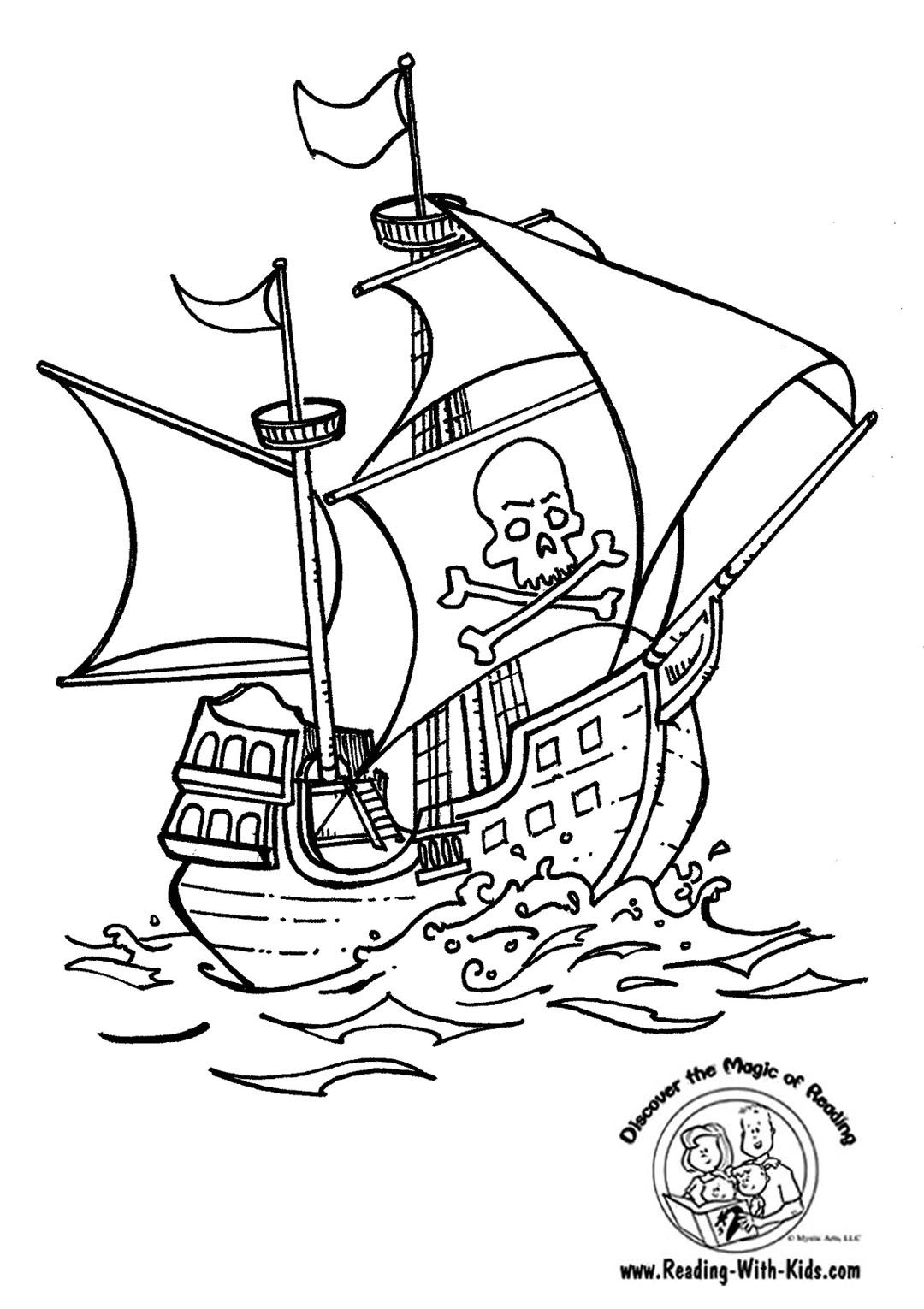 Pirate Ship Coloring Page   Coloring Pages * For Boys