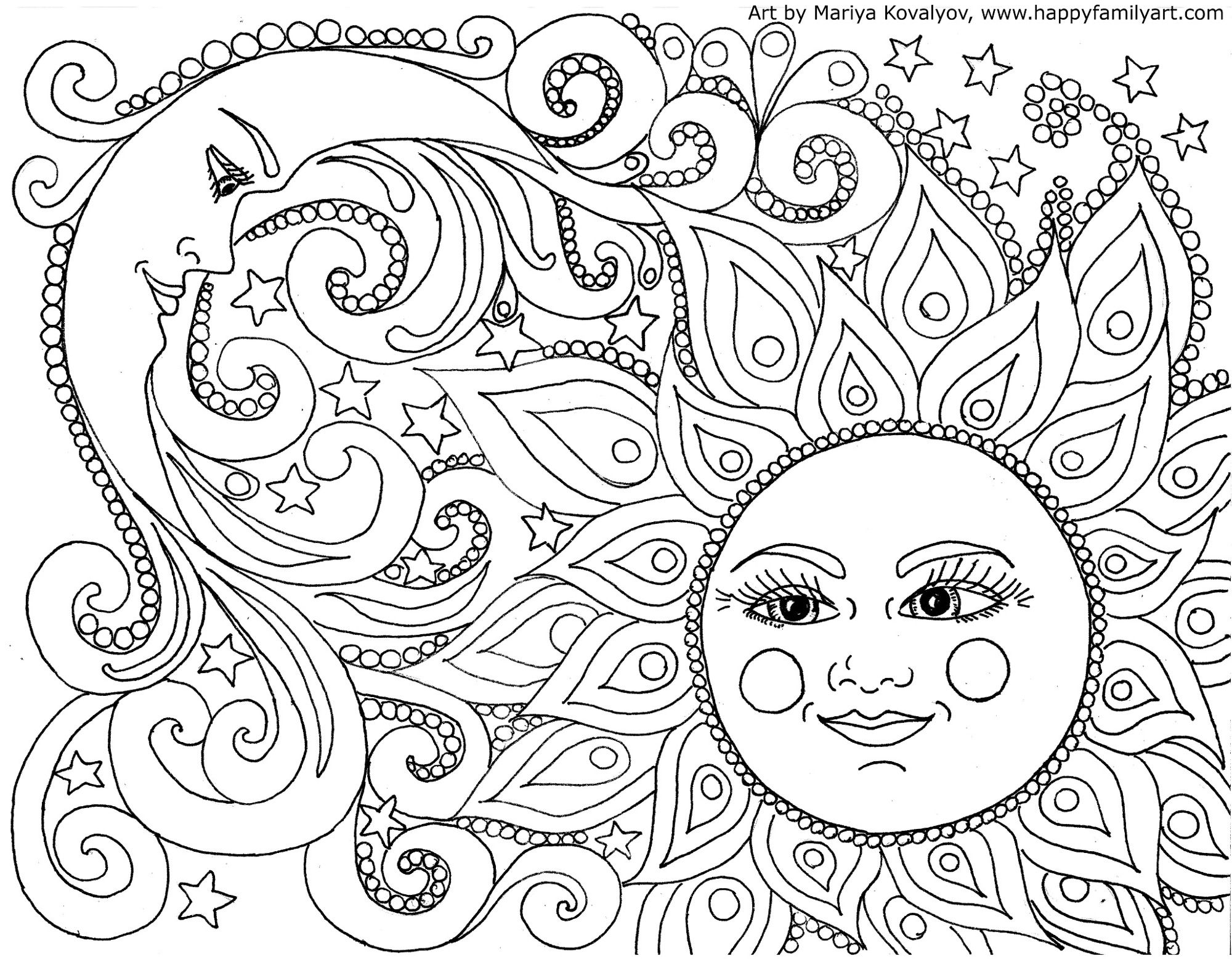 Original And Fun Coloring Pages | Share Your Craft | Moon