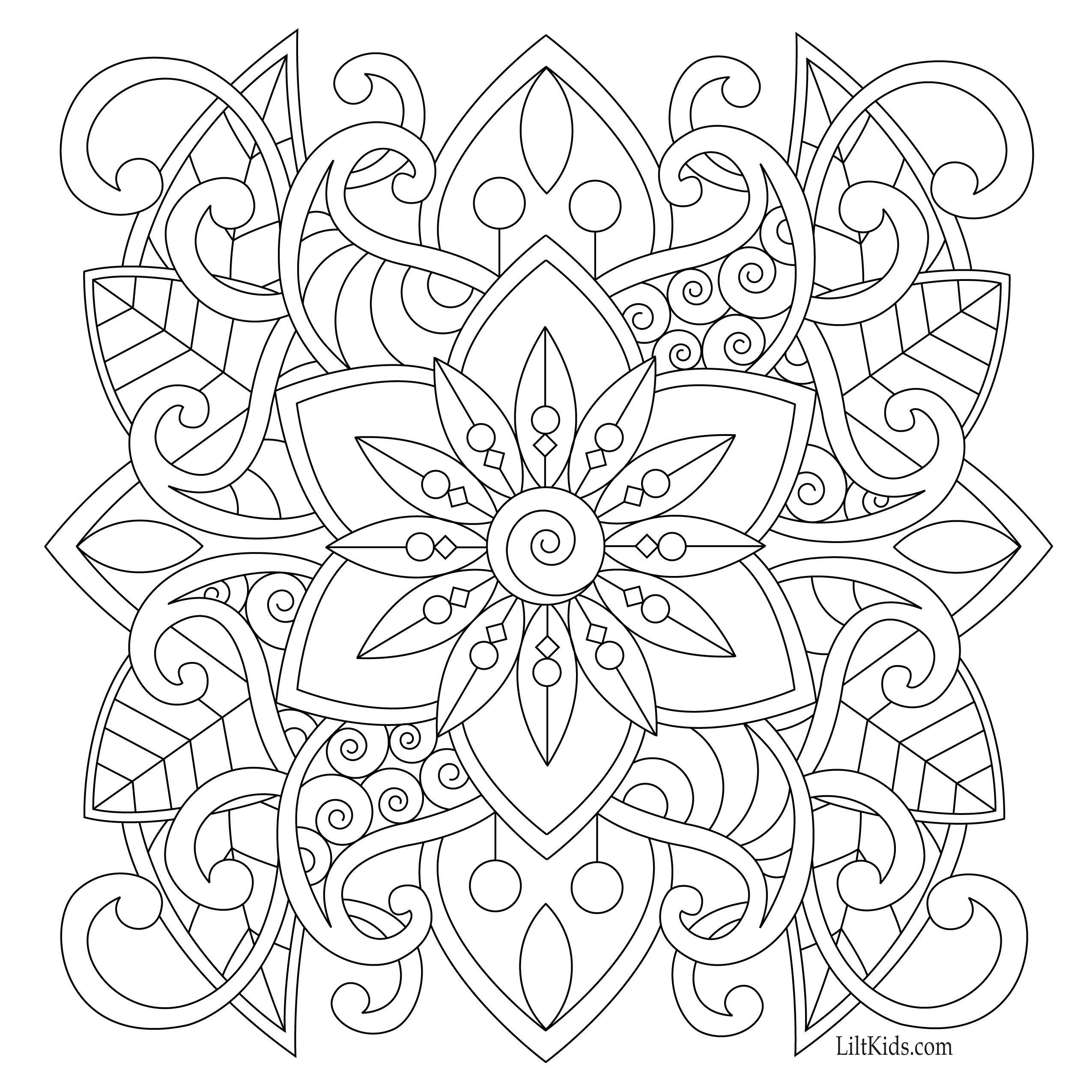 Free Easy Mandala For Beginners Adult Coloring Book Image