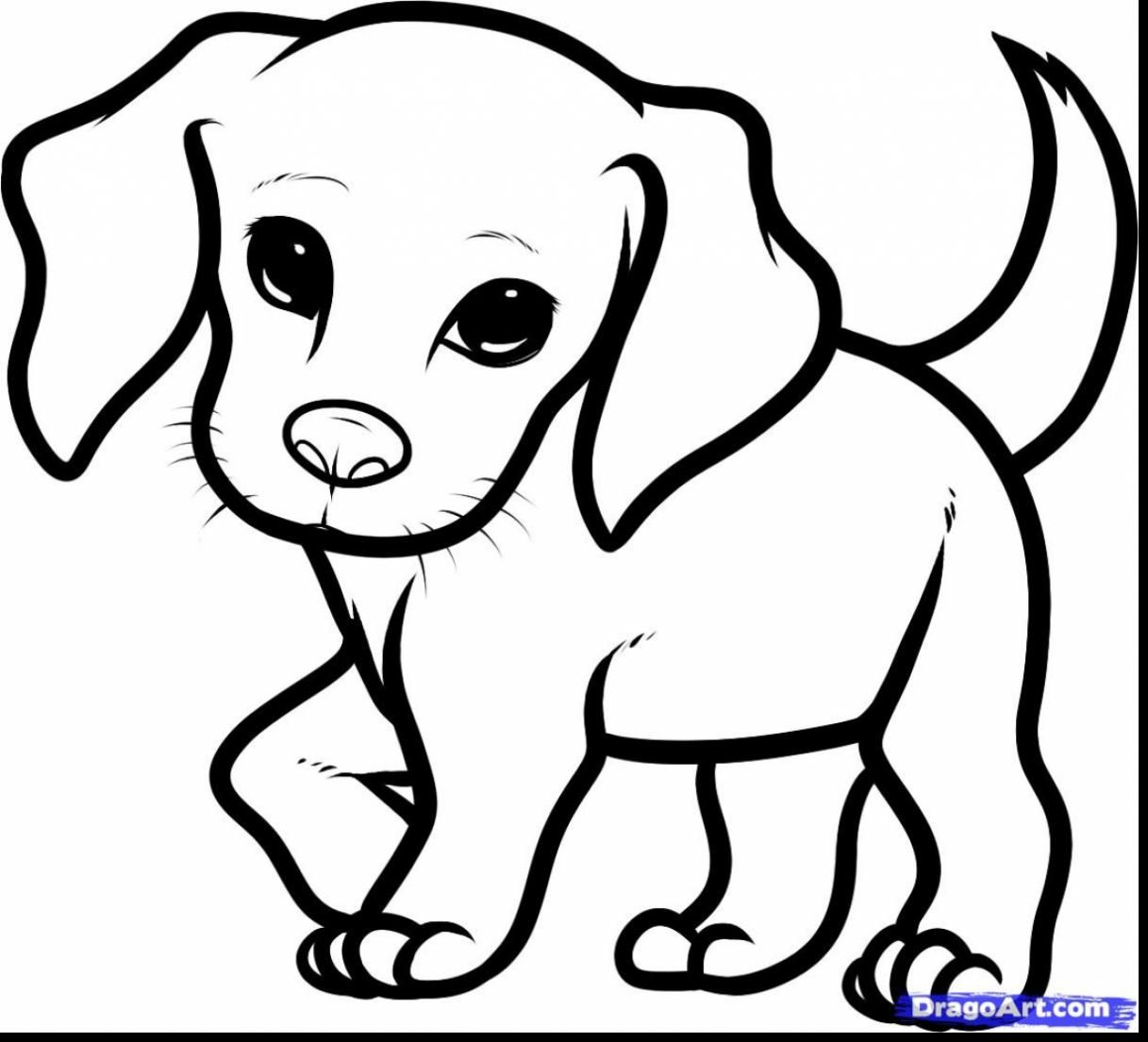 Fantastic Cute Puppy Coloring Book With Cute Puppy Coloring