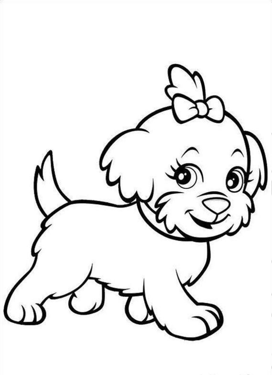 Puppy Coloring Pages   Dog Stencil   Puppy Coloring Pages