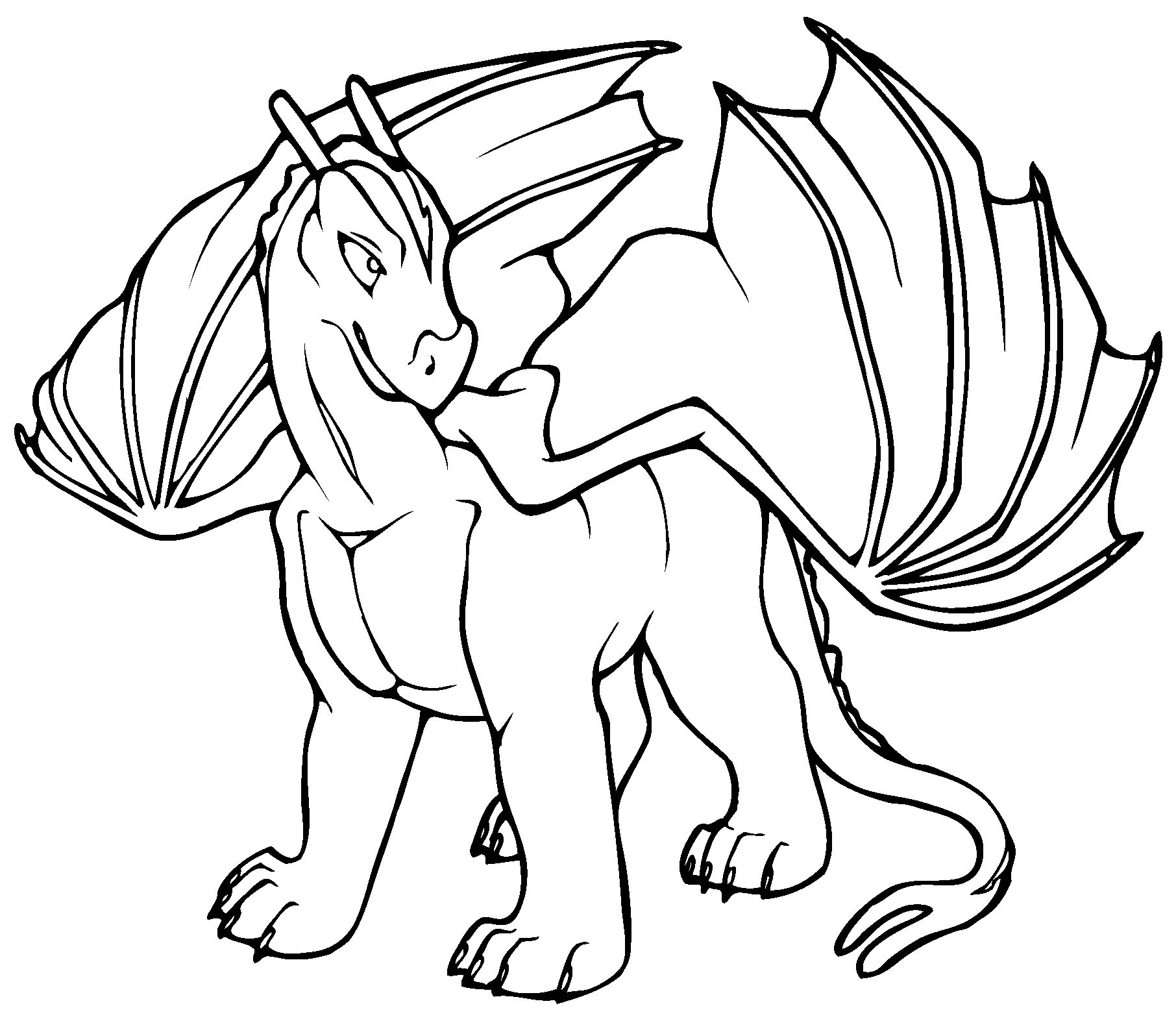 Free Printable Dragon Coloring Pages For Kids | Lettas