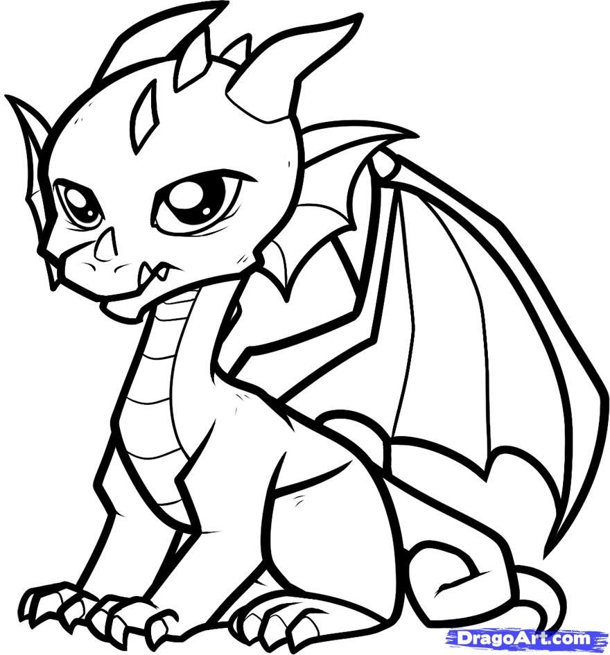 Coloring Pages: Cute Dragon Coloring Pages Printable