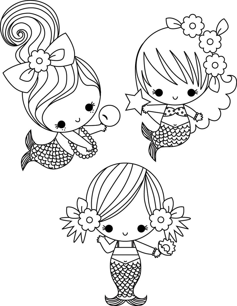 Cute Coloring Page … | Dibujos Paso A Paso | Siren…