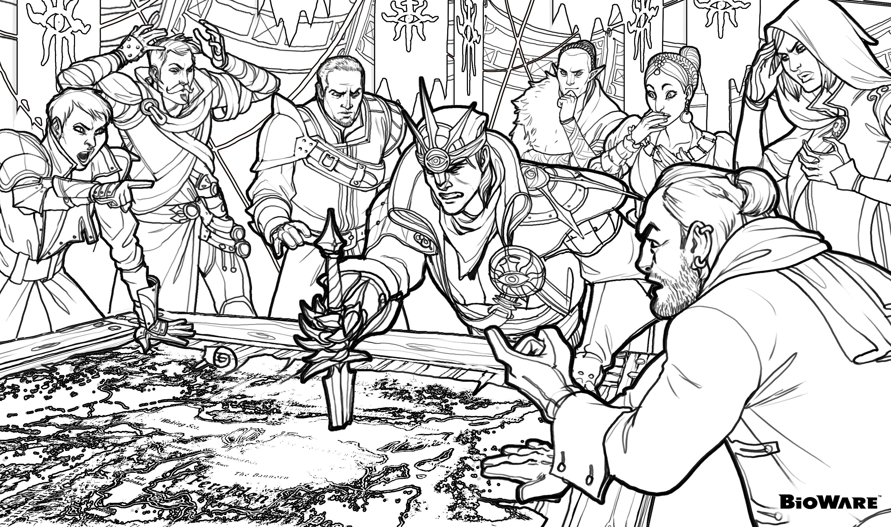 Coloring Age | Coloring | Dragon Age, Dragon Age Inquisition