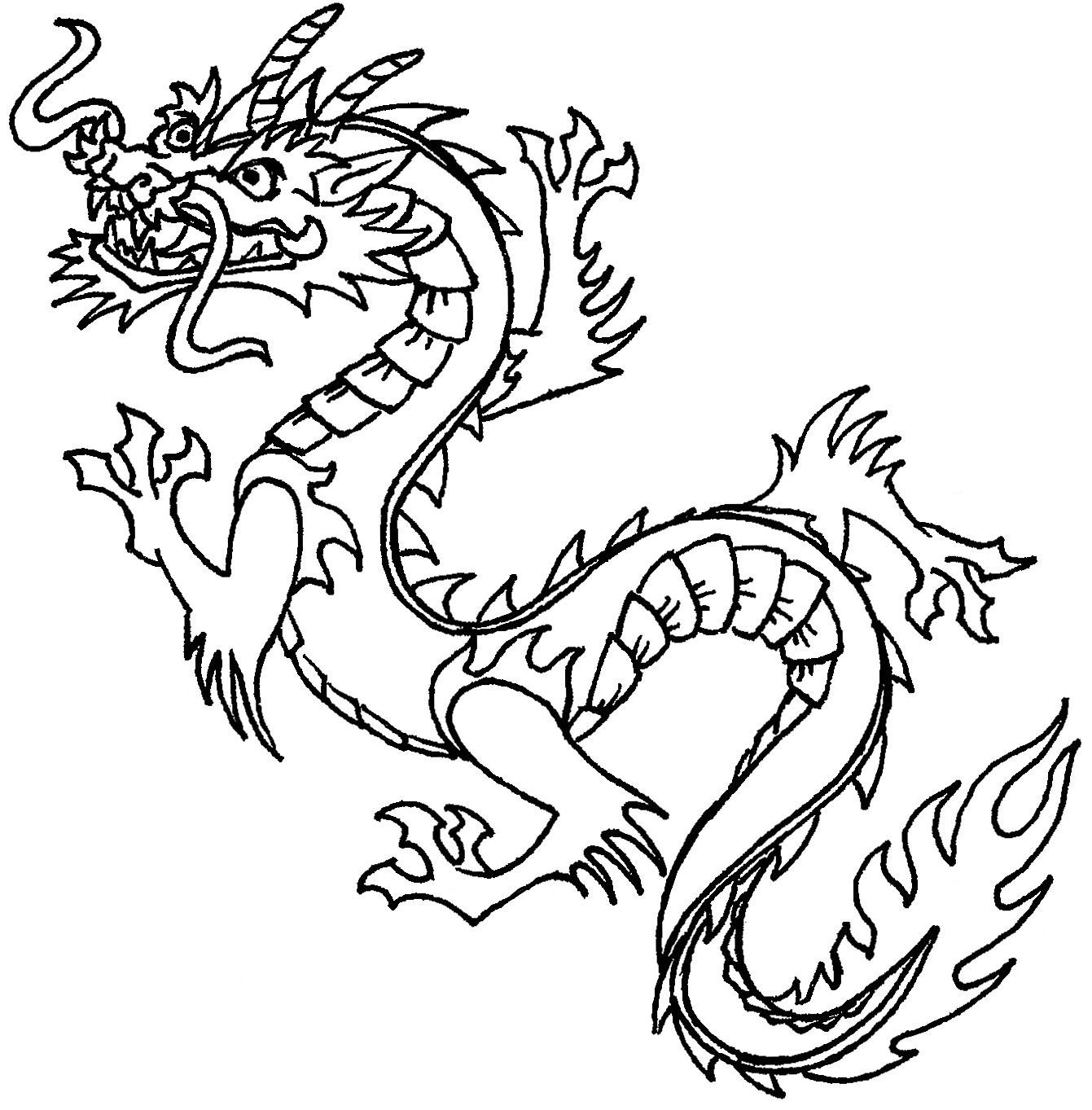 New Dragons To Colour Free Printable Chinese Dragon Coloring