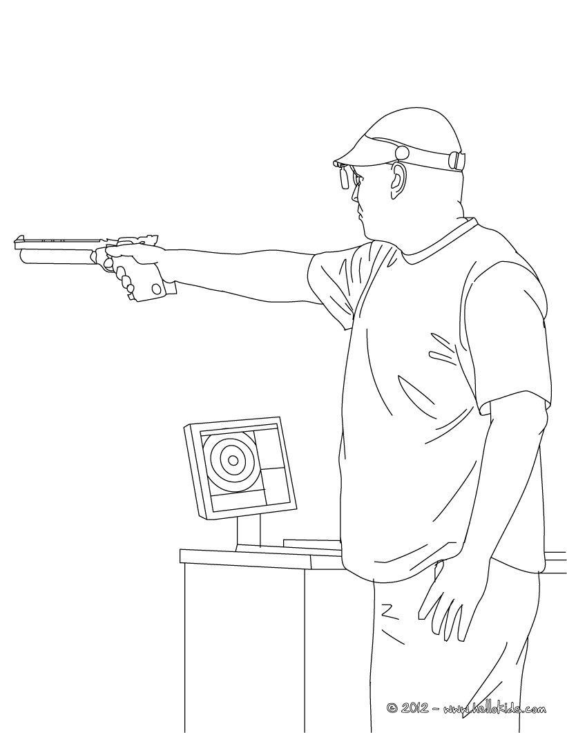Shooting Coloring Page More Sports Coloring Pages On