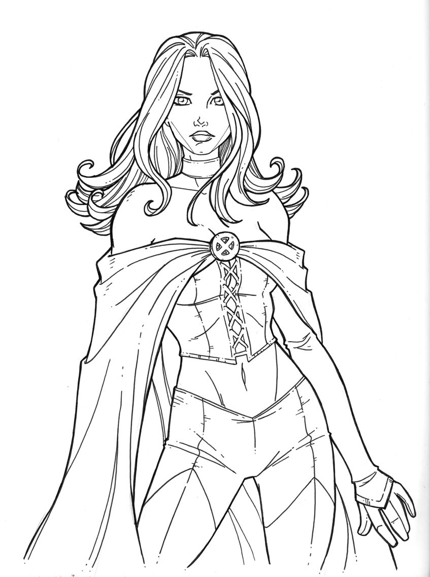 Emma Frost   Drawing Inspiration\ideas   Coloring Pages