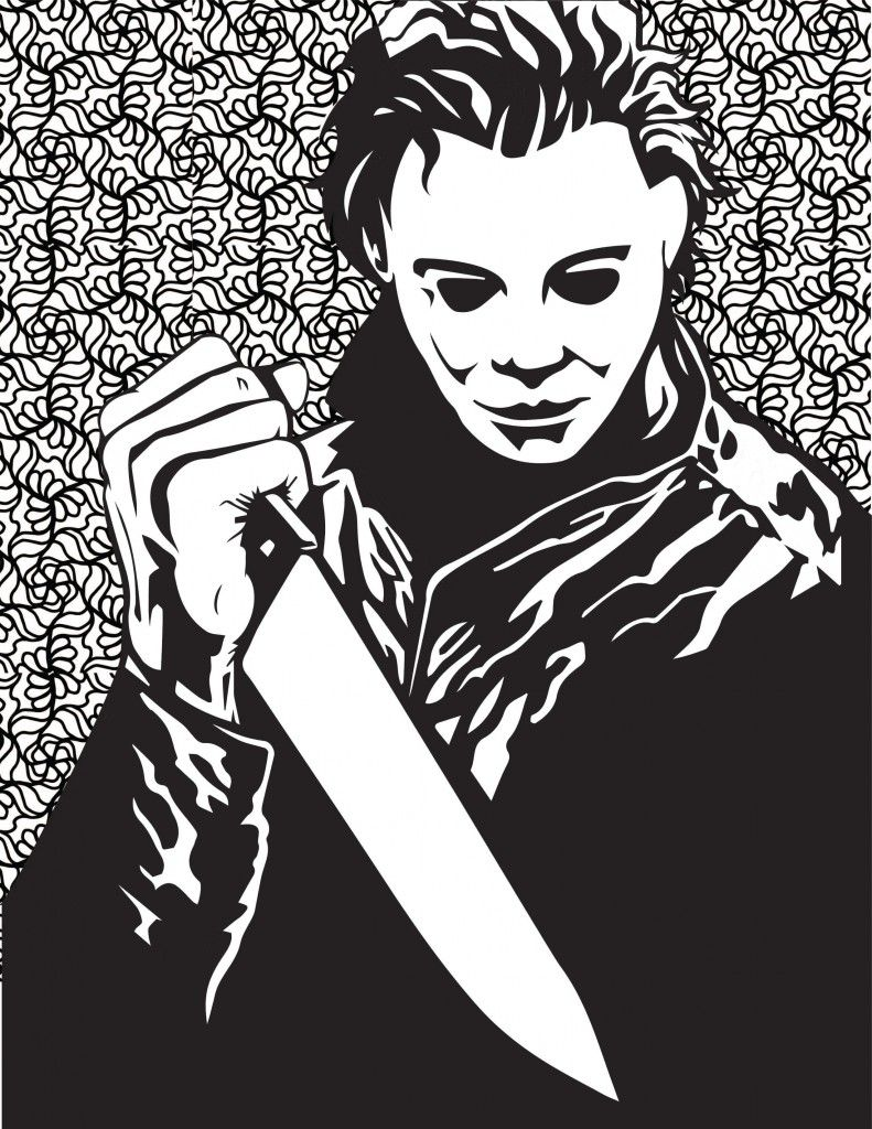 Horror Movies Printable Coloring Pages | Halloween Costumes