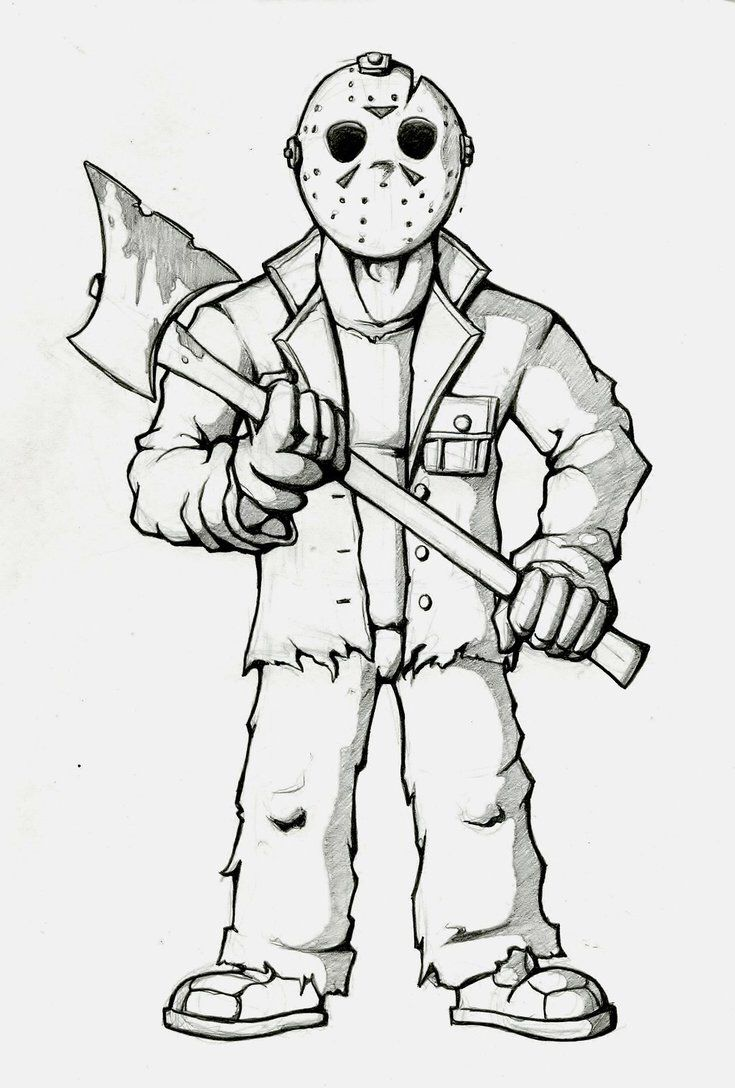 Jason Coloring Page … | What I've Tried From Pinterest