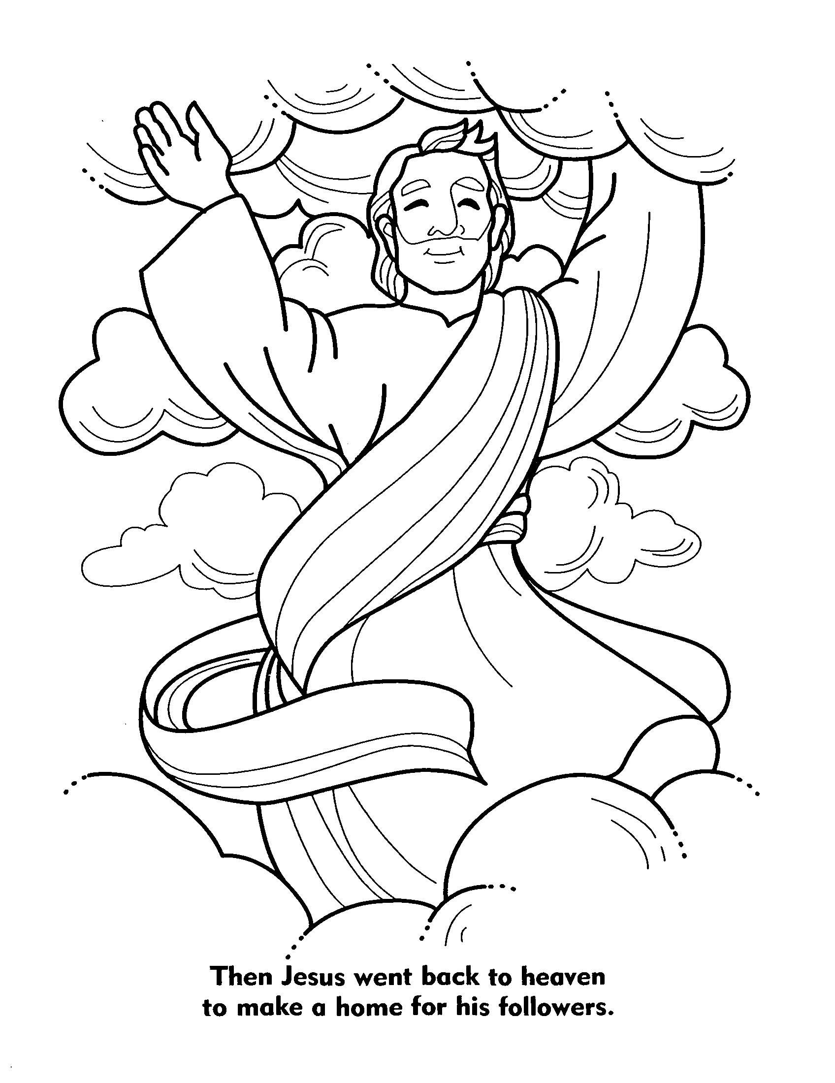 Jesus Coloring Pictures Children Bible Coloring Pages Jesus