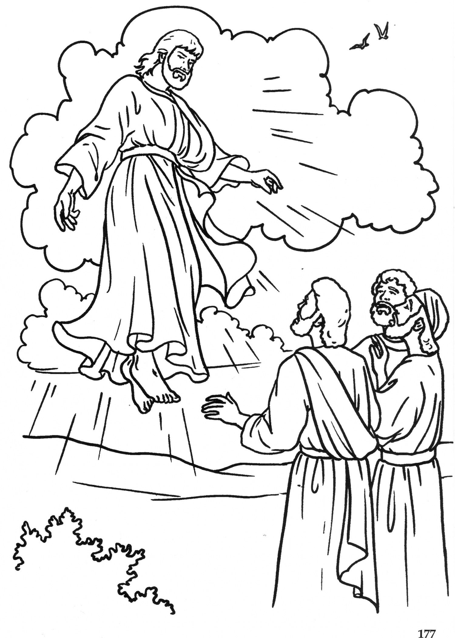 The Ascension Catholic Coloring Page | Easter | Bible