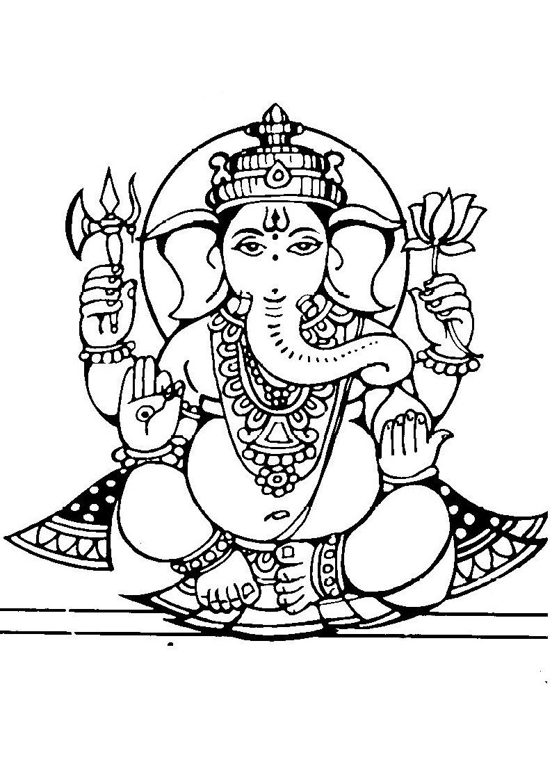 Lord Ganesha Free Coloring Pages For Kids | Tattoos In 2019