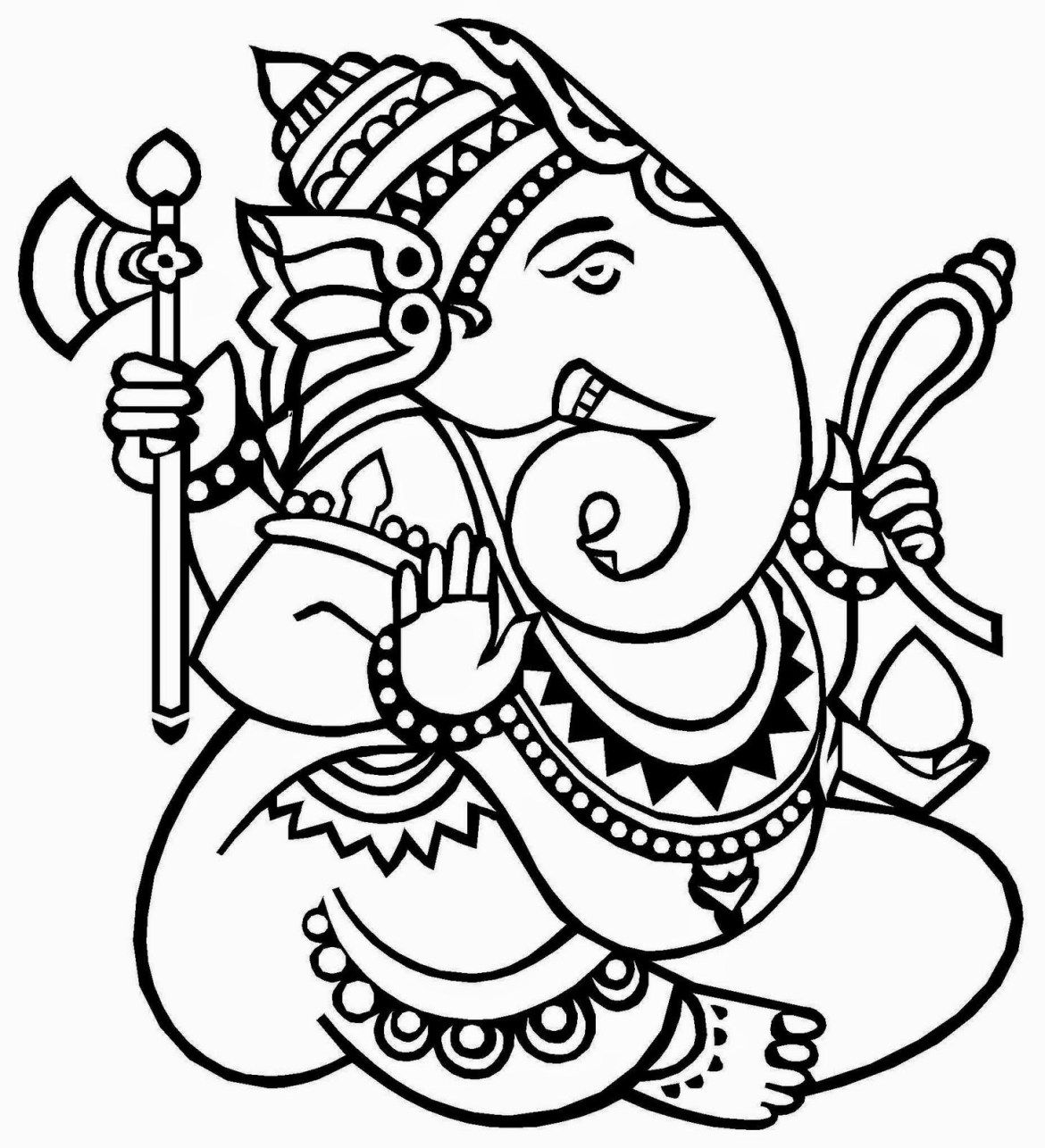 Lord Ganesha Free Coloring Pages For Kids | Coloring Pages