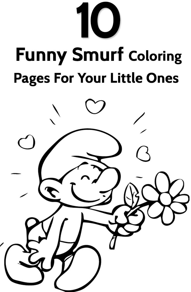 Smurf Coloring Pages - Free Printables | Coloring Pages