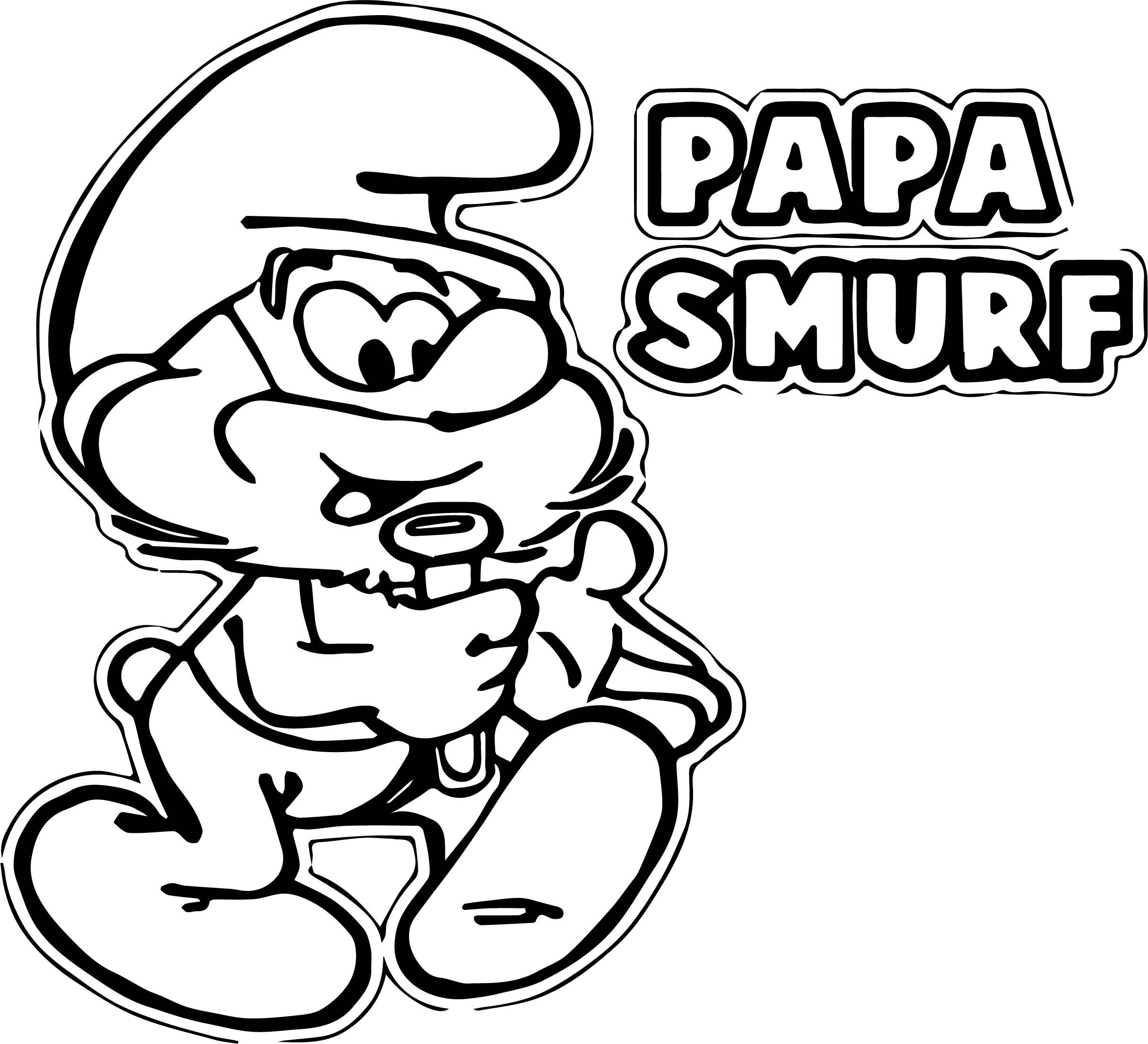 Awesome Papa Smurf Coloring Pages | Wecoloringpage