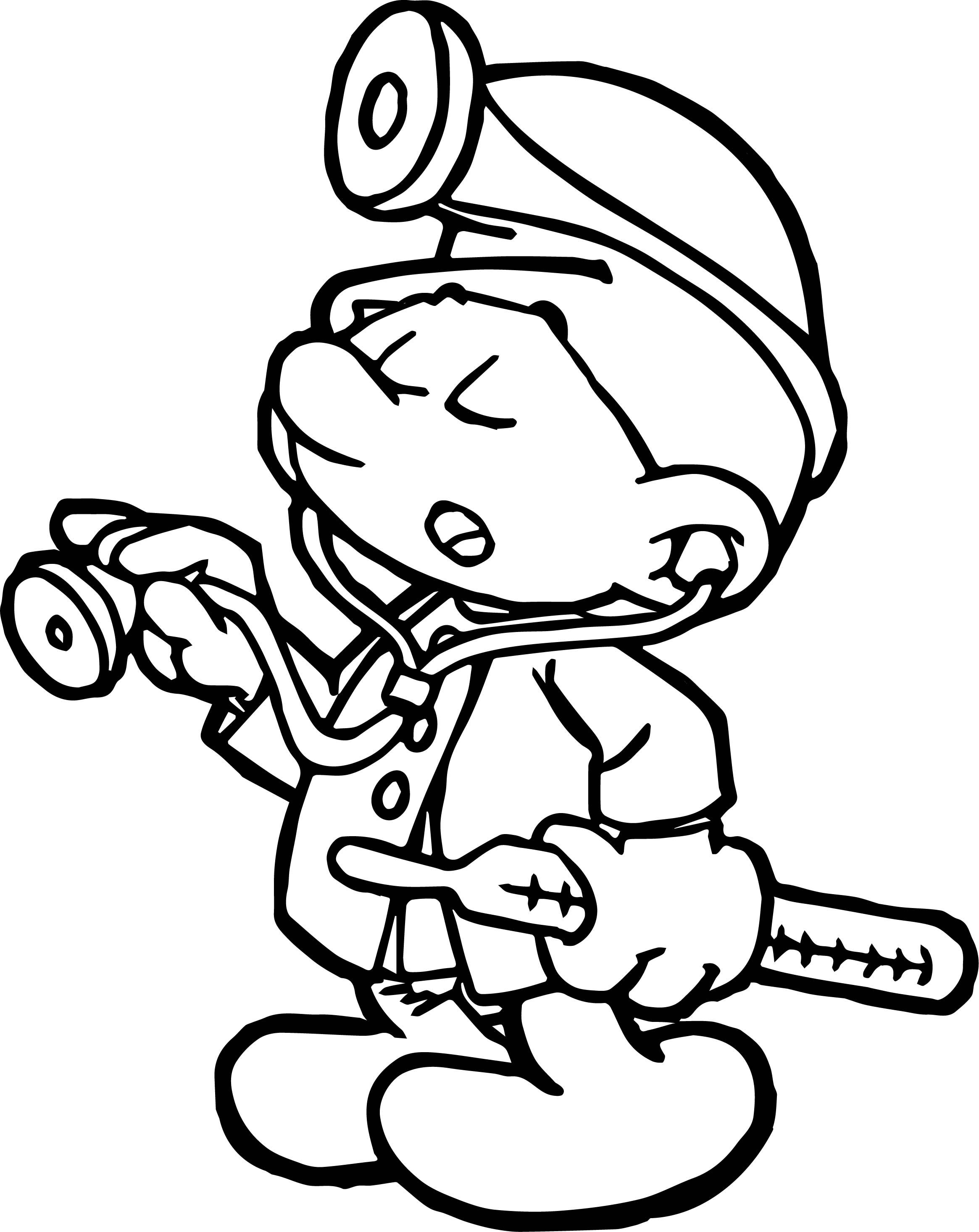 Cool Doctor Smurf Coloring Page | Wecoloringpage | Coloring