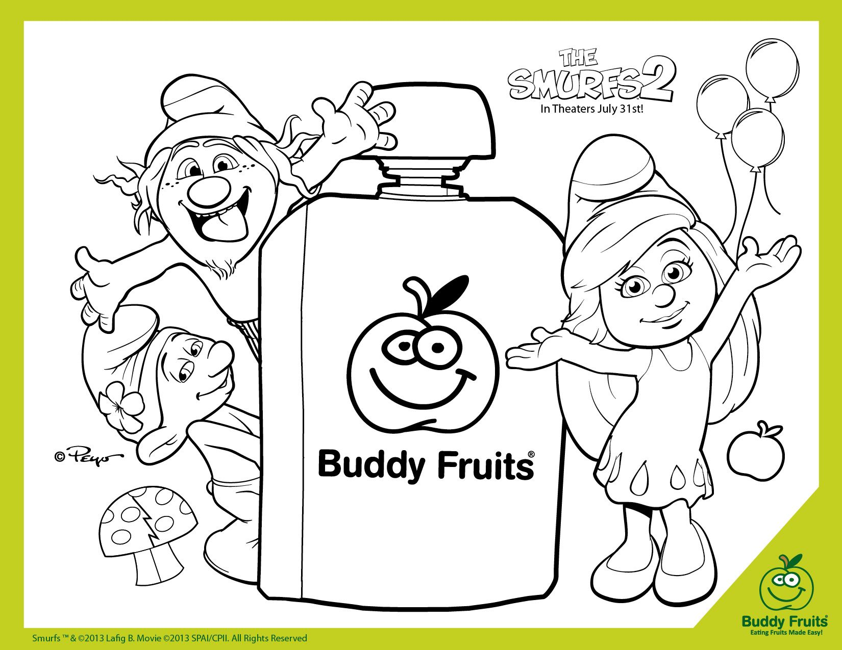 Free Printable The Smurfs 2 Coloring Page | Printable