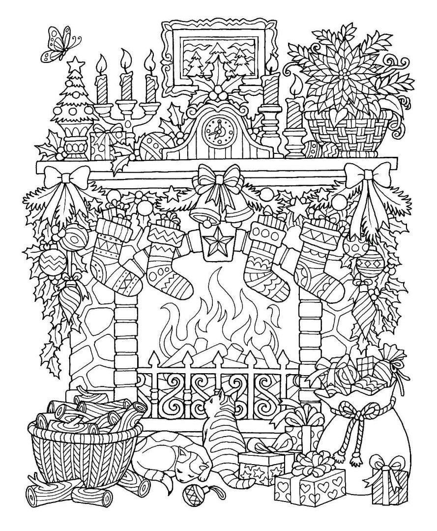 Pin By Karen Lee On Holiday Ideas   Christmas Coloring Pages