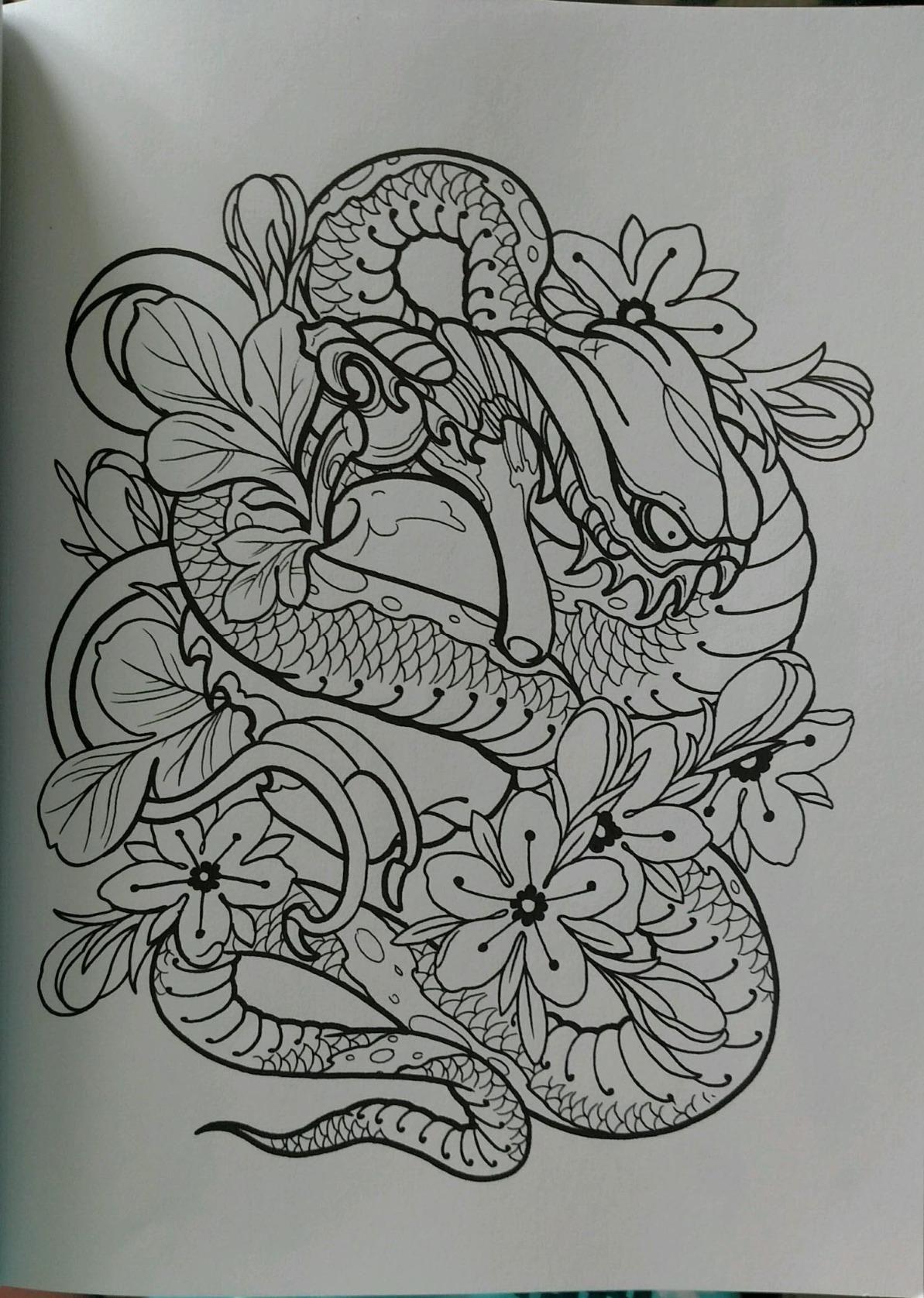 Creative Haven Modern Tattoo Designs Coloring Book (creative