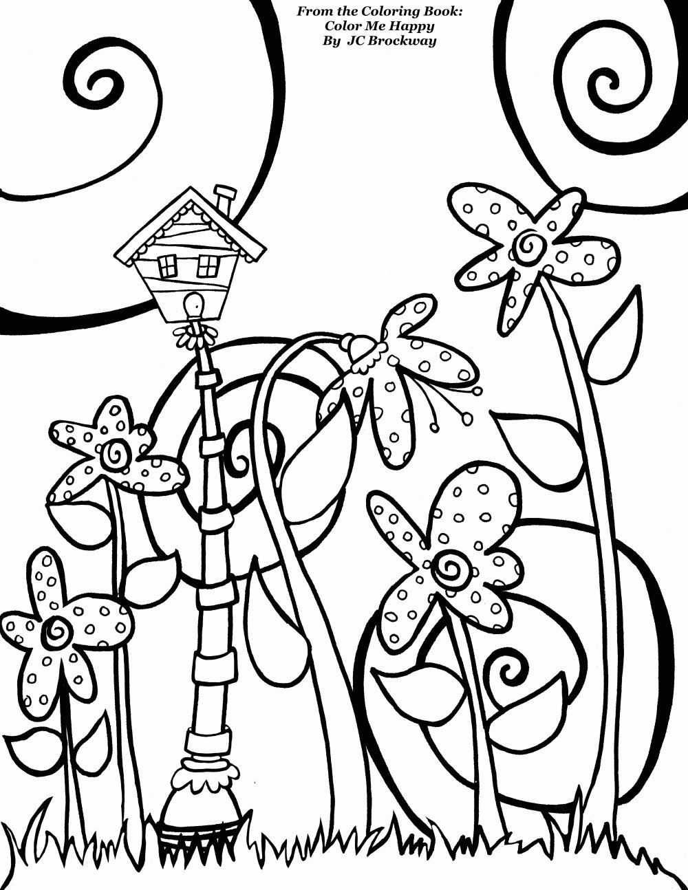 Free Birdhouse Coloring Page From Adult Coloring Worldwide