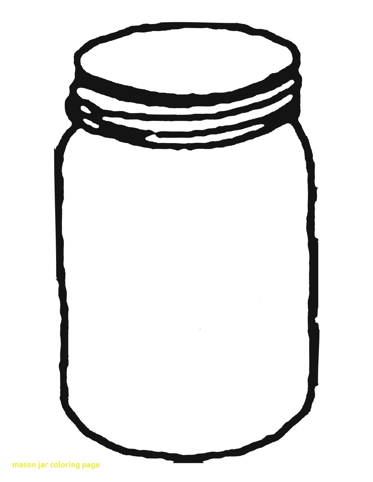 Mason Jar Coloring Page With Template For Clipart Clipartwiz