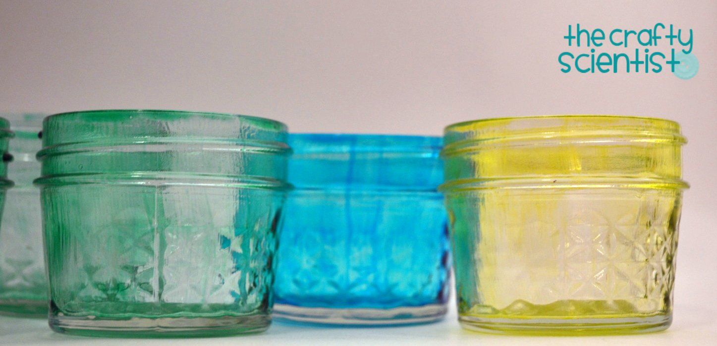 Mason Jars Painted With Mod Podge & Food Coloring | Crafts