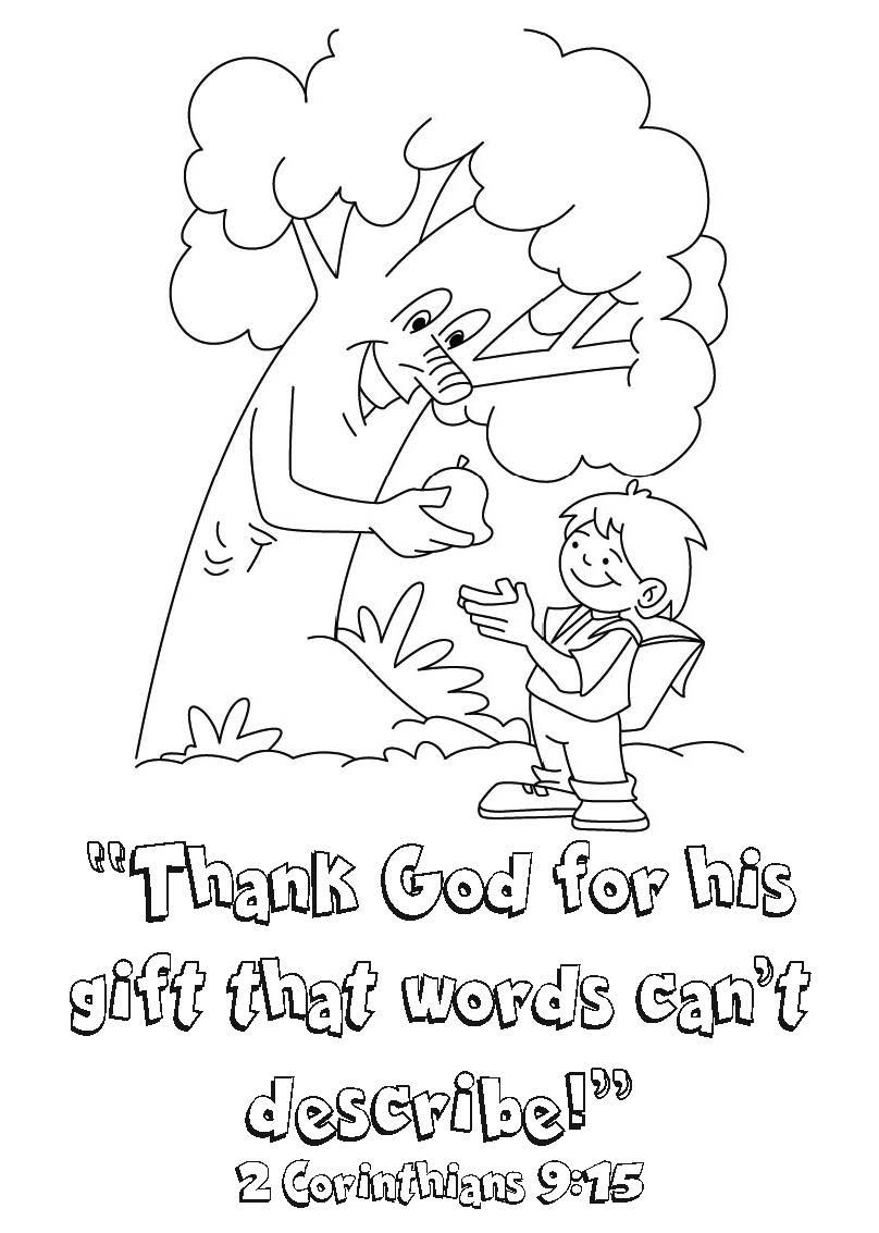 2 Corinthians 9:15 Coloring Page Thanks Be To God   Kid's