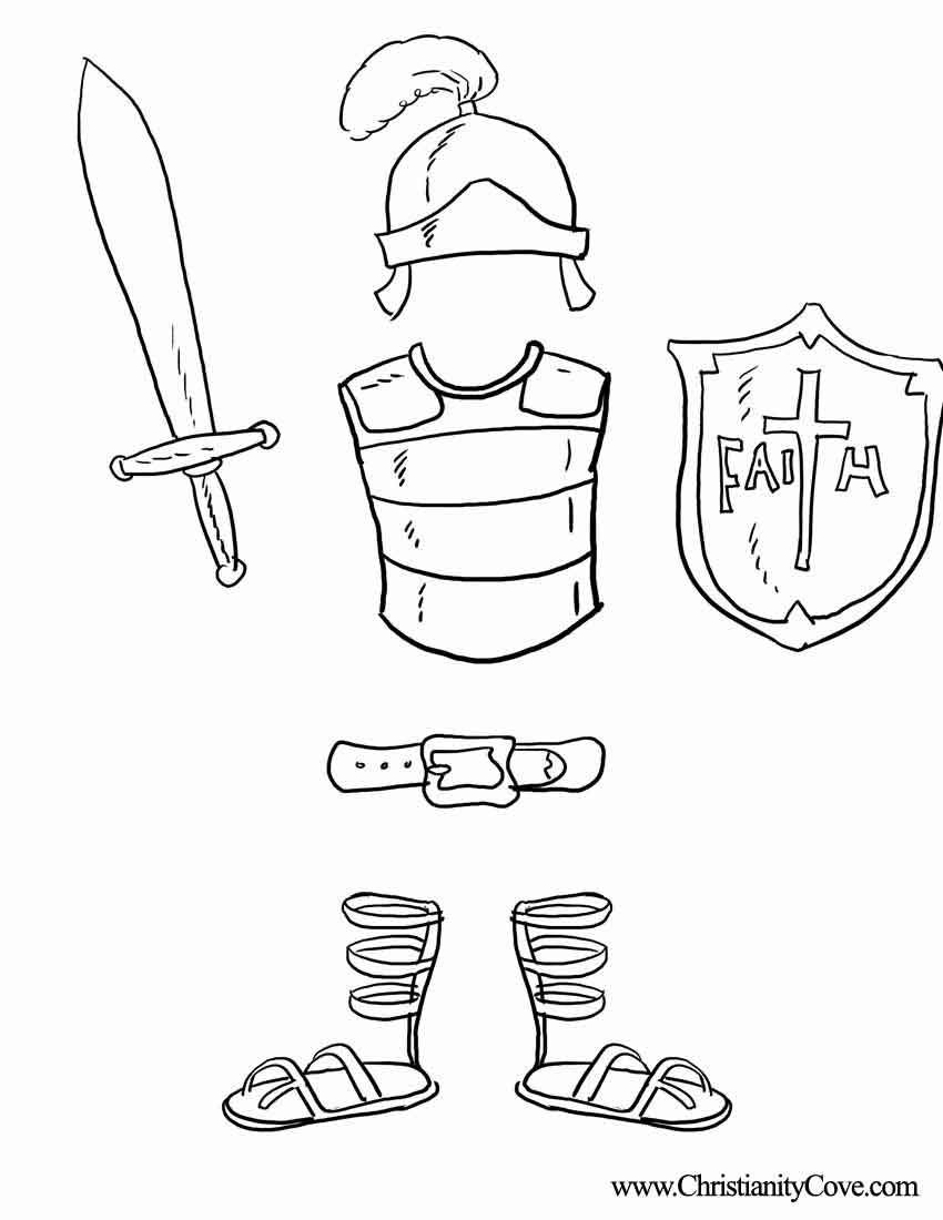 Armor Of God Coloring Pages | Bible Printables: Coloring