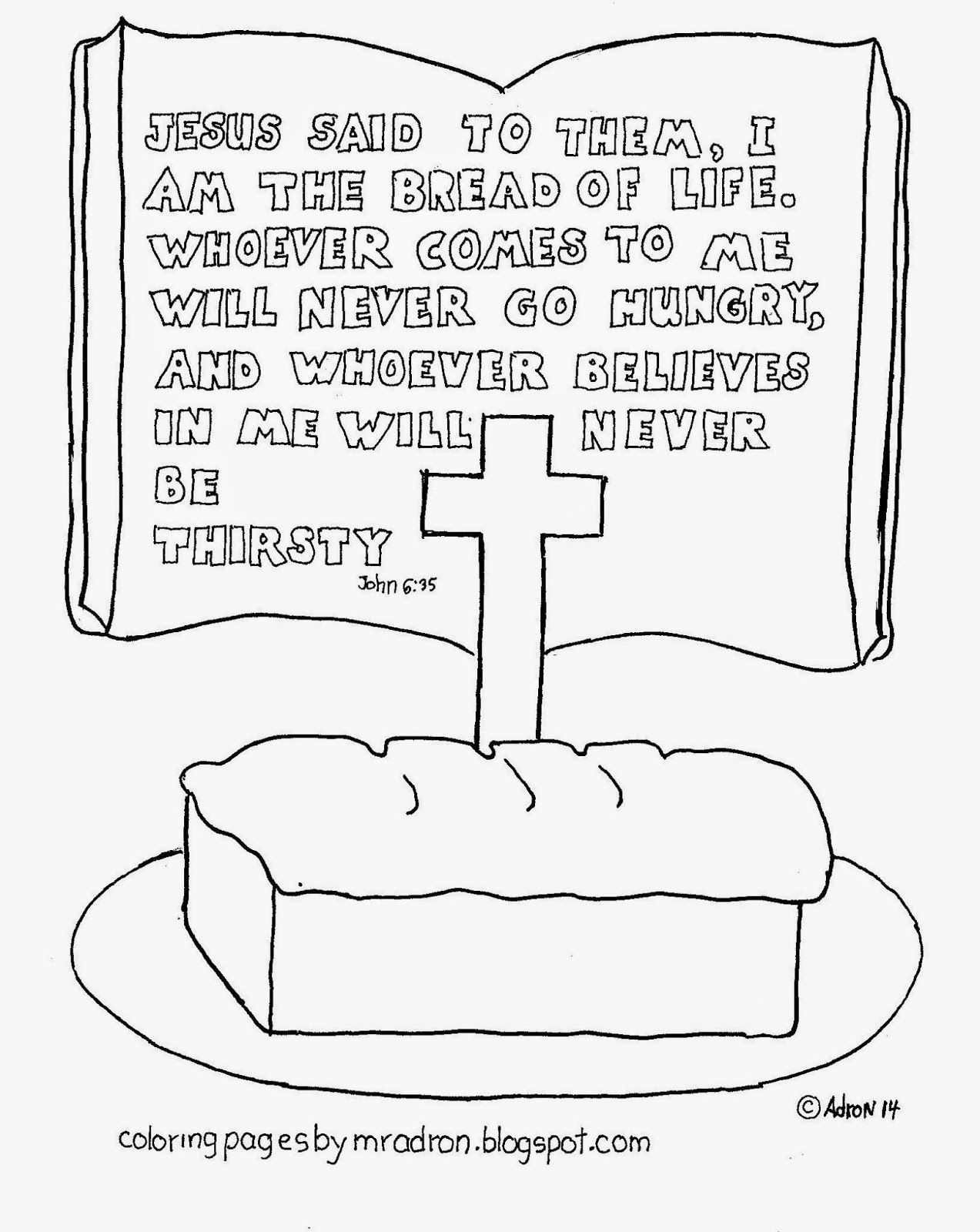 Coloring Pages For Kids By Mr Adron: I Am The Bread Of Life