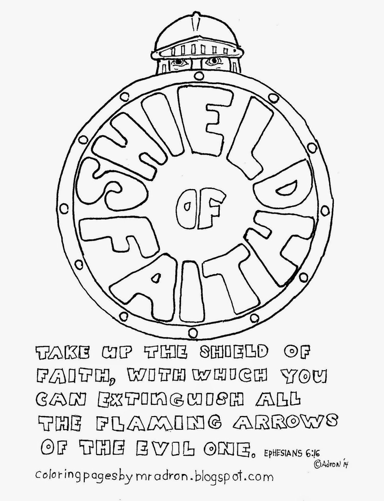 Coloring Pages For Kids By Mr Adron: The Shield Of Faith
