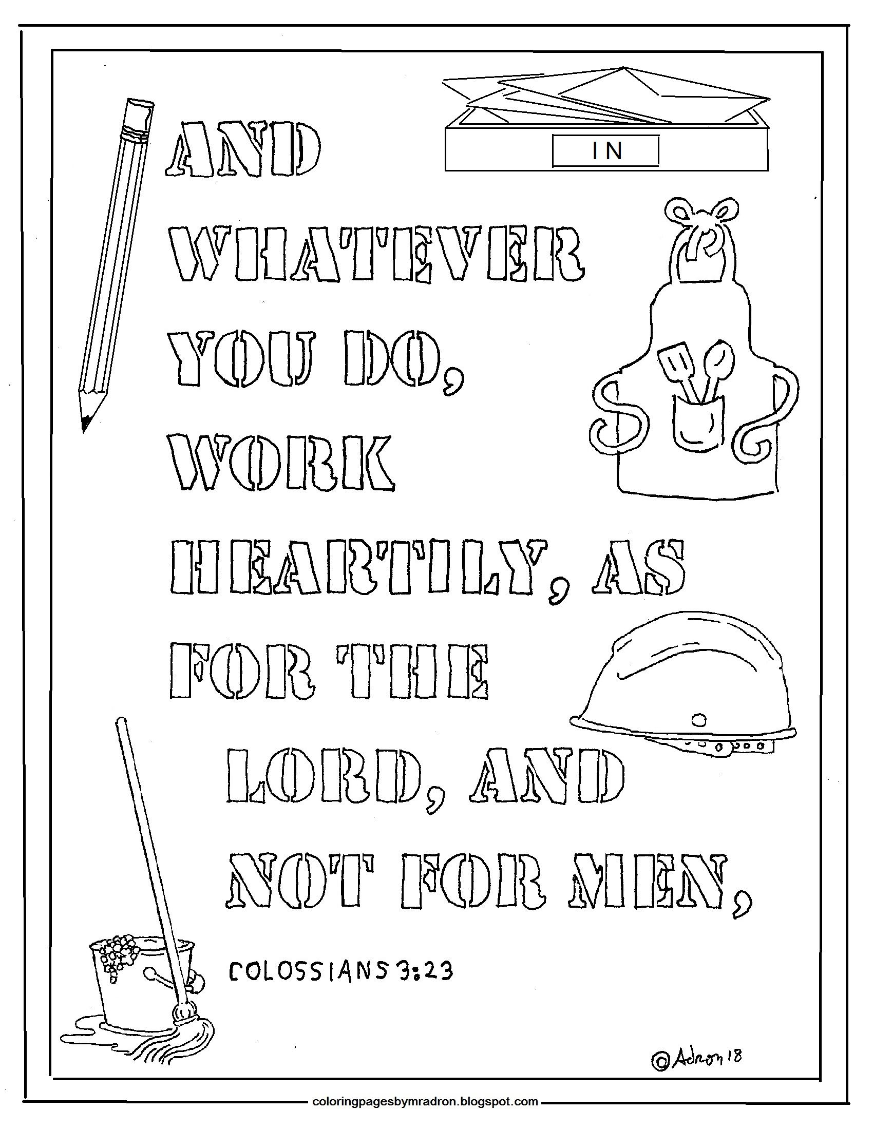 Pin By Adron Dozat On Coloring Pages For Kid | Bible Study