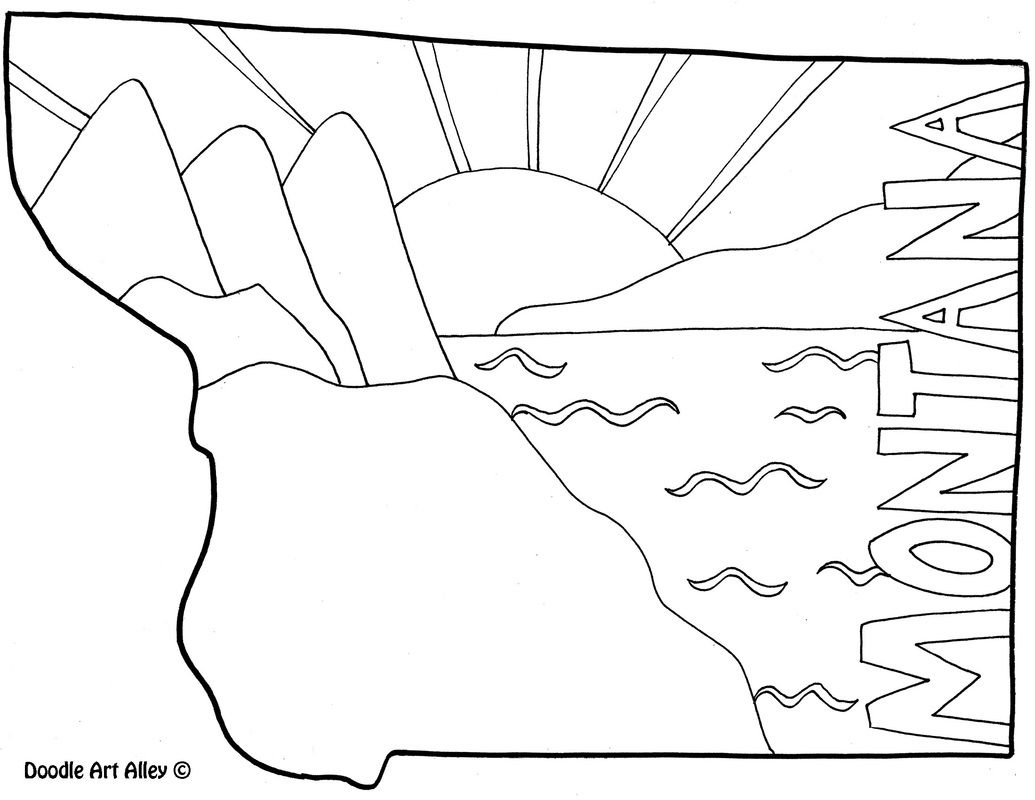United States Coloring Pages - Classroom Doodles | Social