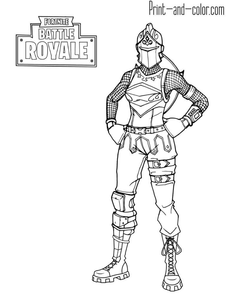 Fortnite Battle Royale Coloring Page Red Knight | Fortnite