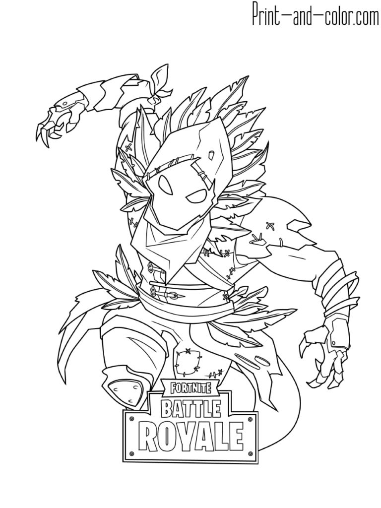 Fortnite Coloring Pages   Print And Color   Binder Art