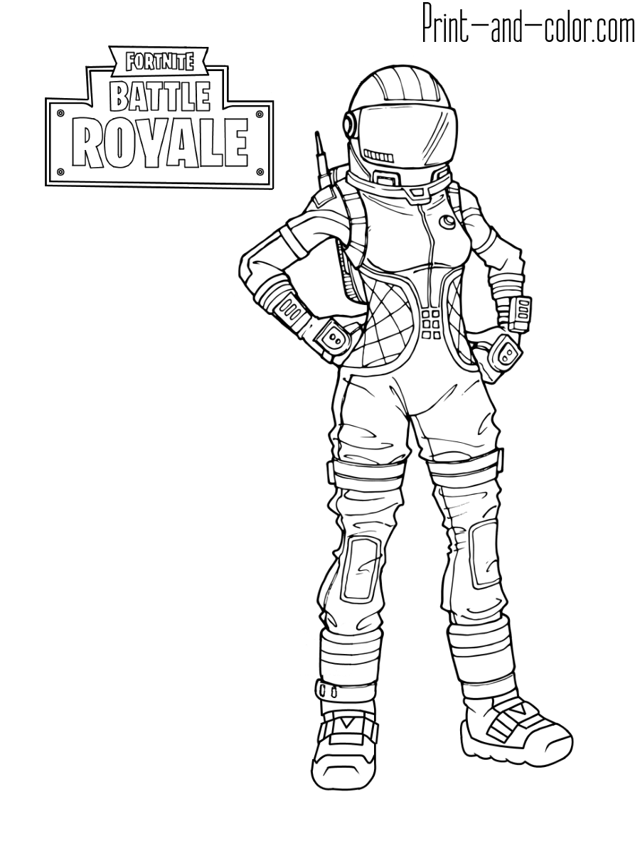 Fortnite Coloring Pages | Print And Colorcom | Gabin In