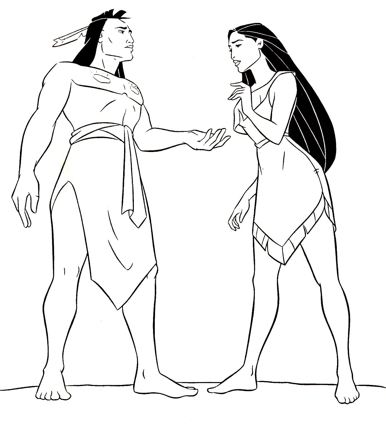24+ Marvelous Picture Of Pocahontas Coloring Pages