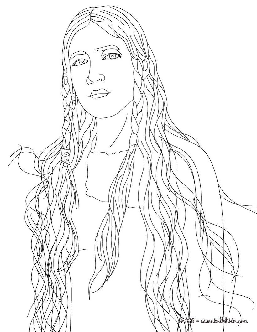 Pocahontas Coloring Page | Mystery Of History 3 | Native