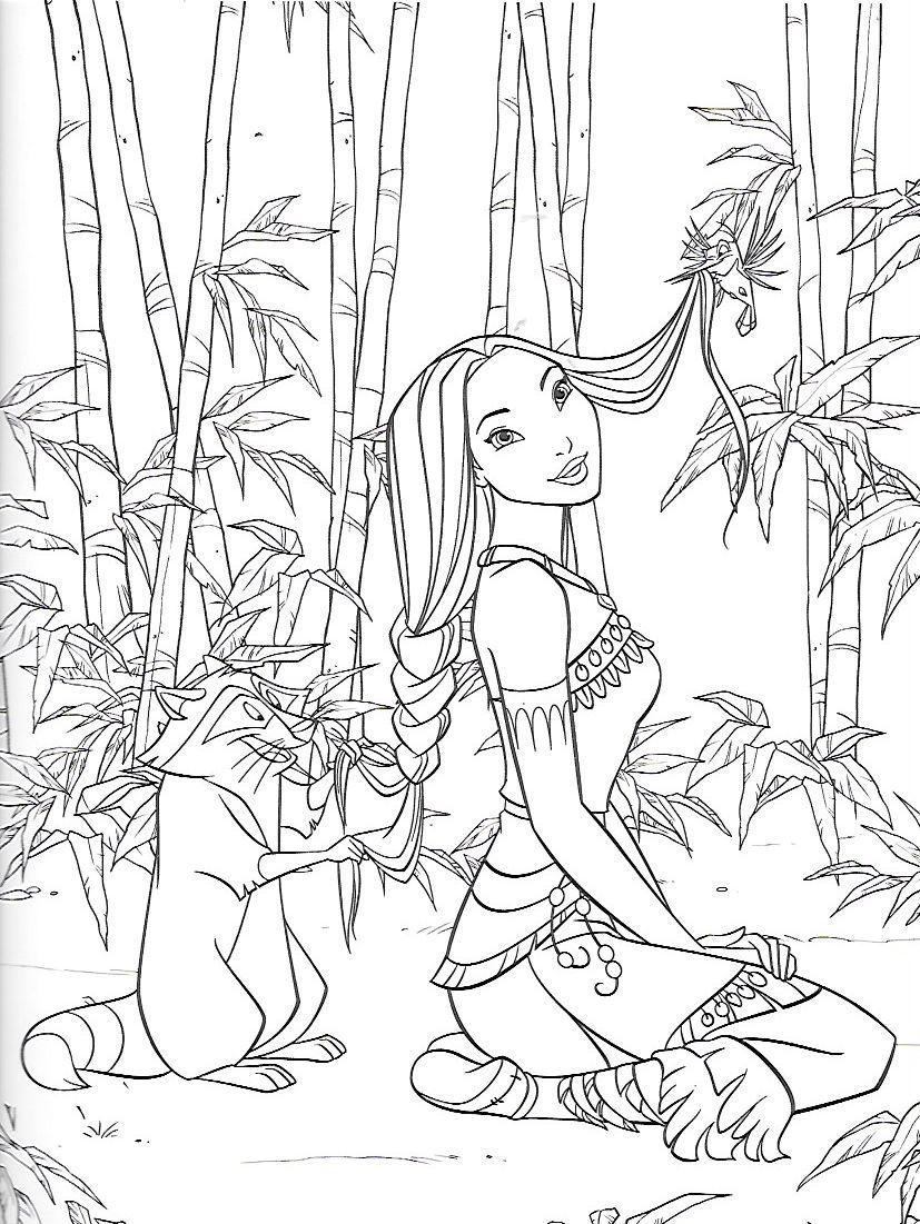 Pocahontas Coloring Page - Disney | Coloring | Disney