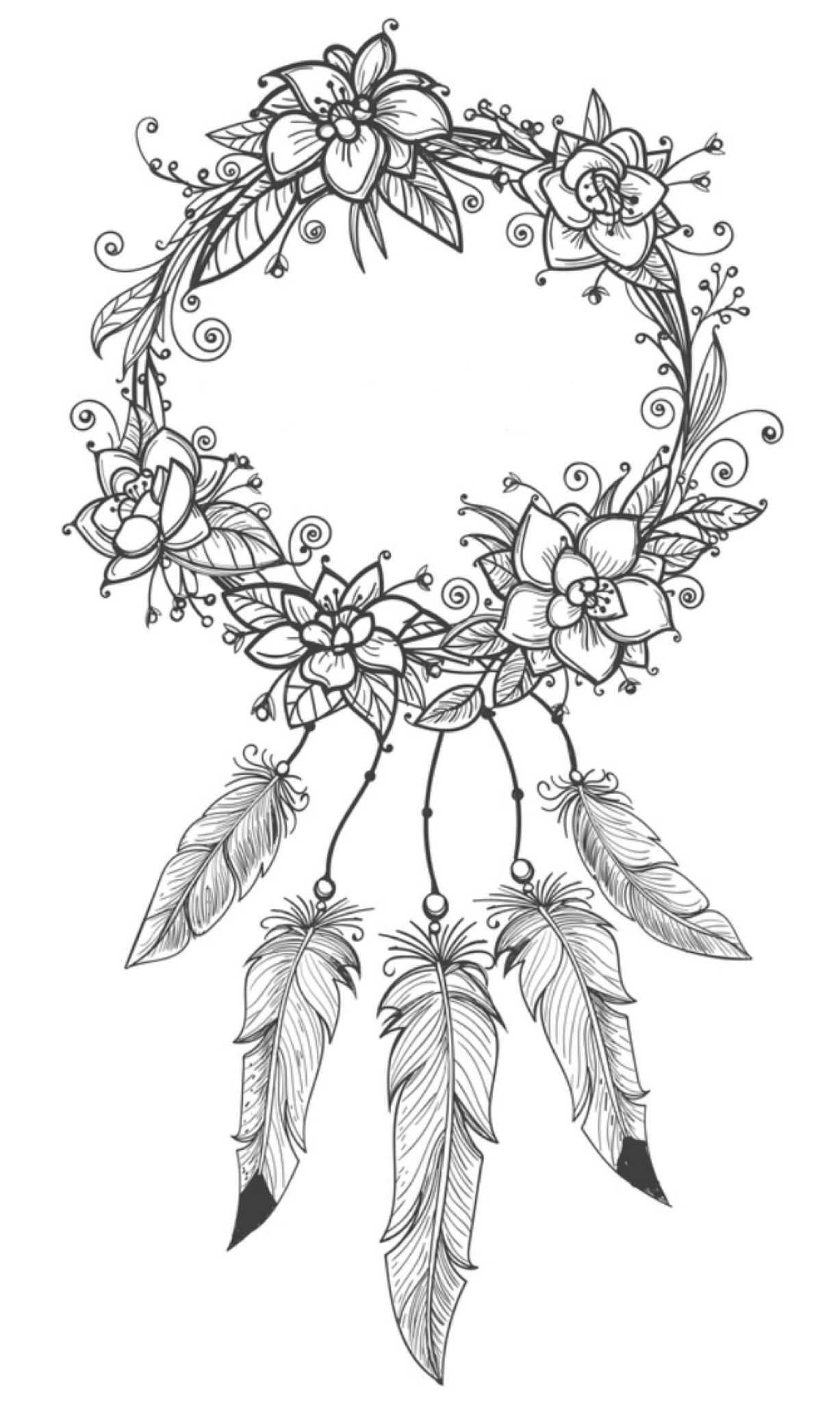 Dreamcatcher Coloring Page | Coloring Pages For Adults