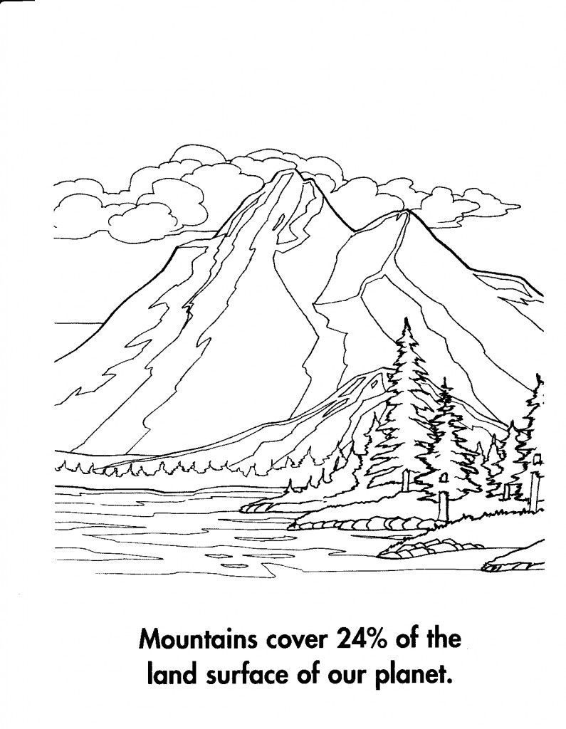 Mountain Scenery Coloring Pages   Coloring Pages   Coloring
