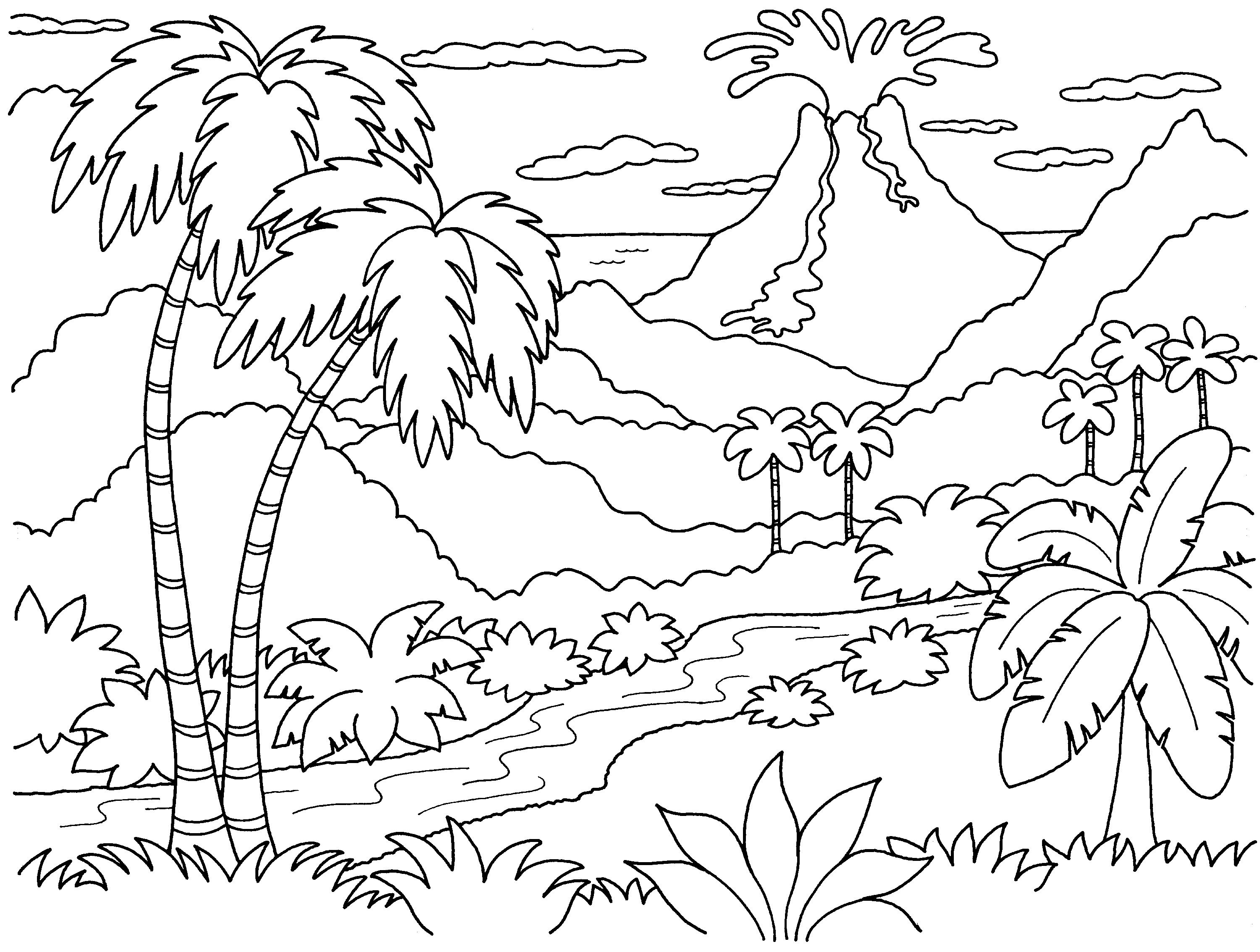 Nature Island Coloring Pages | Print Coloring Pages - Best