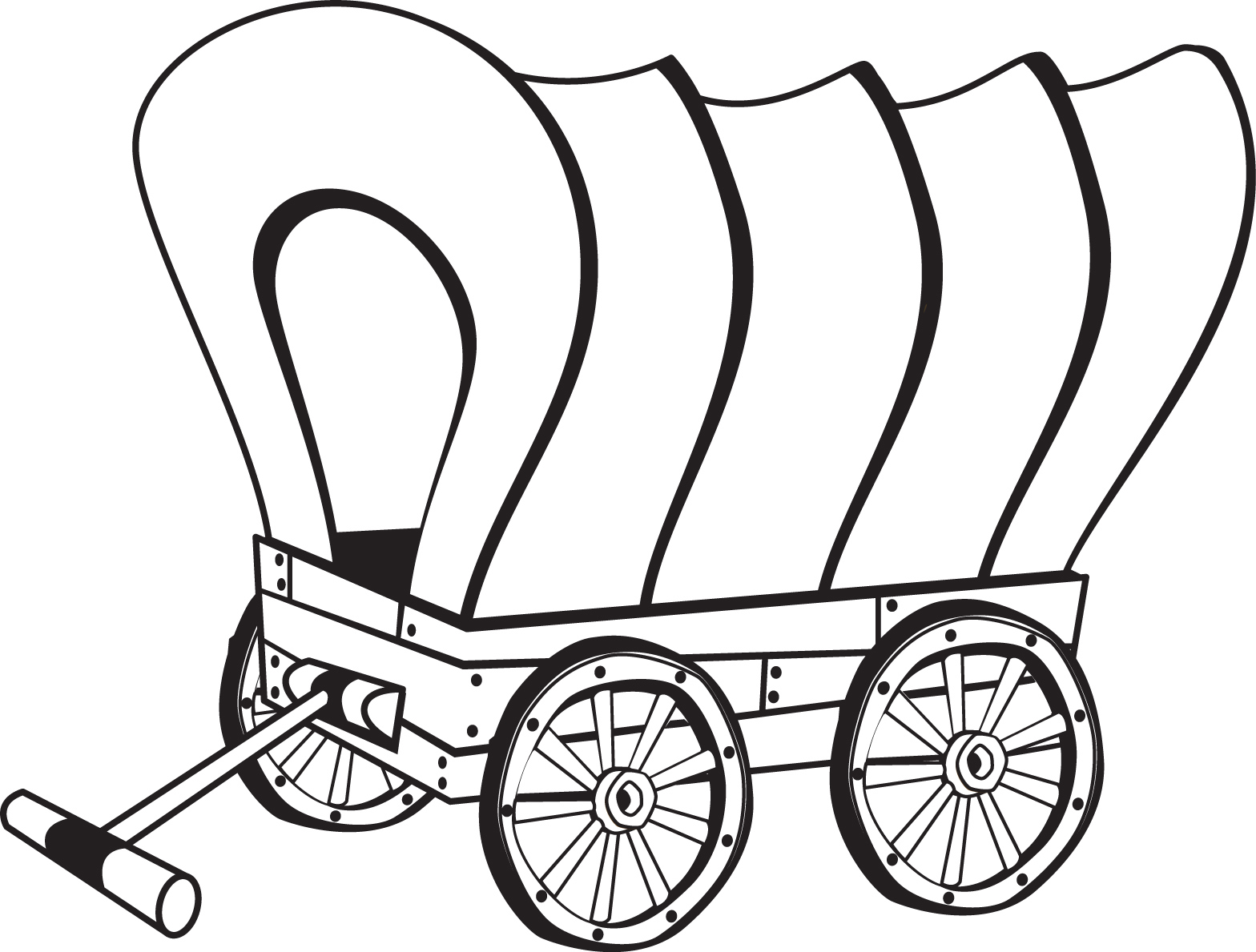 Download Or Print This Amazing Coloring Page: Covered Wagon
