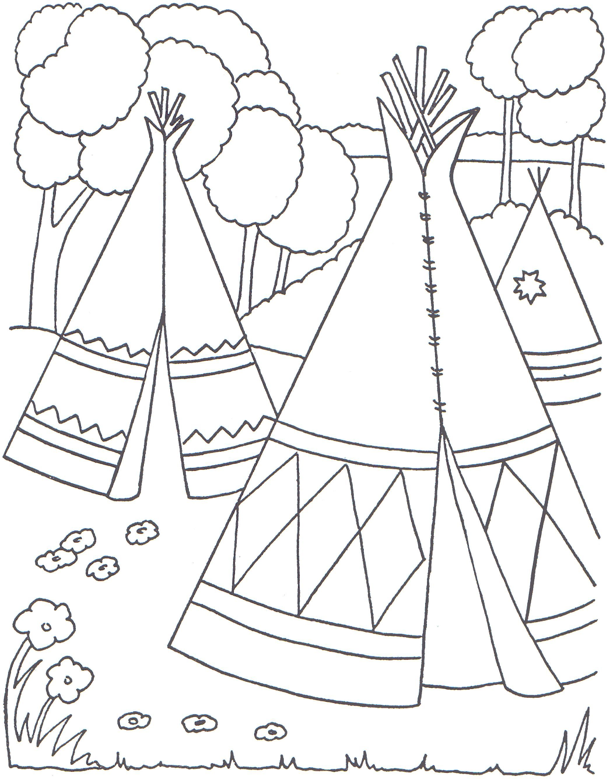 Cowboys And Indians Coloring Pages | Indian Coloring Pages